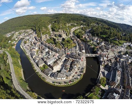 Aerial View On Belgian City La Roche-en-ardenne
