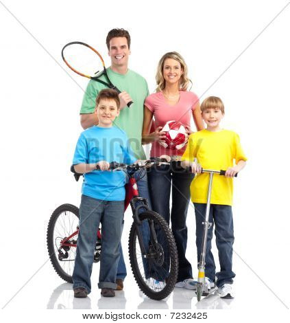 Happy Sportive Family
