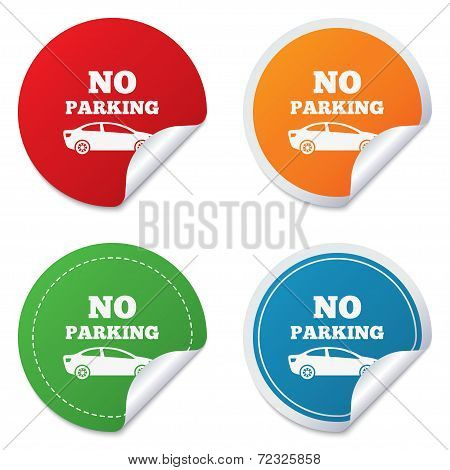 No parking sign icon. Private territory symbol.