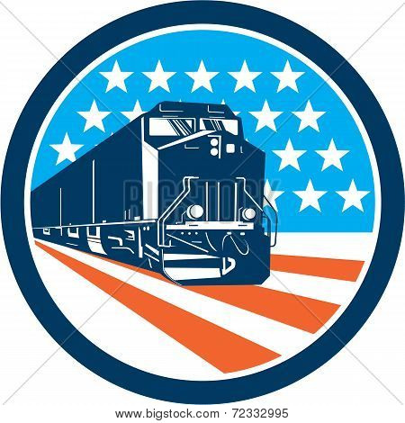 Diesel Train American Stars Stripes Retro