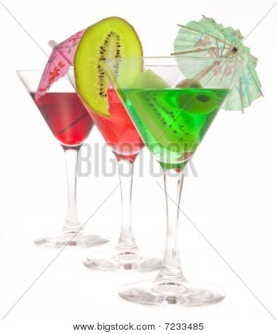 Three Glasses Of Cocktails