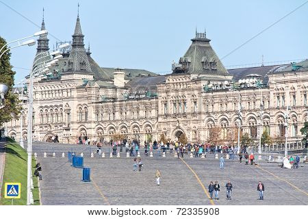 Moscow. Red Square And Vasilevsky Descent