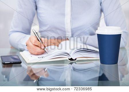 Businessperson Working At Desk