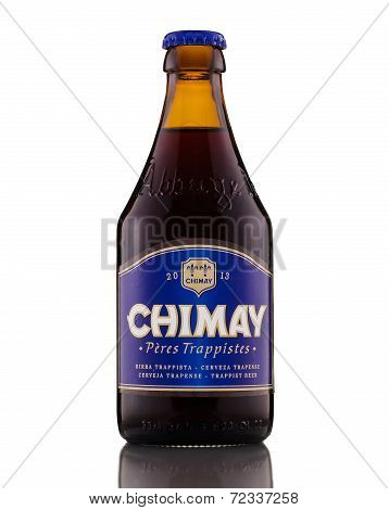 One Bottle Of Chimay Blue (grande Reserve) Trappist Beer