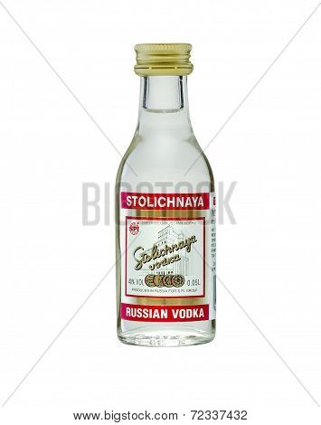 Miniature Bottle Of Vodka Stolichnaya (stoli)