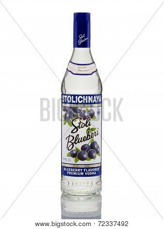 Stolichnaya Blueberry Flavored Premium Vodka