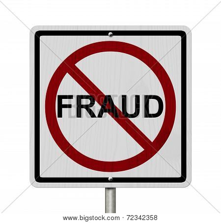 No Fraud Sign