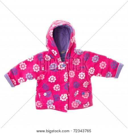 Girls Fleece Jacket On White Background