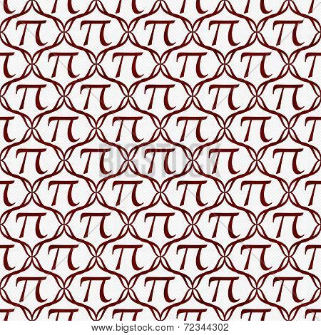 Red And White Pi Symbol Repeat Pattern Background