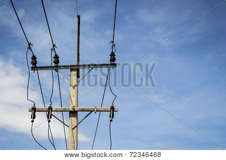 Power Pole In Sky