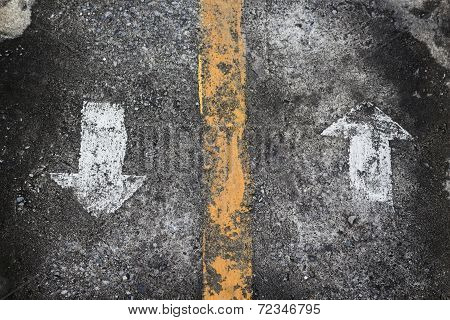 Grunge Arrow Sign