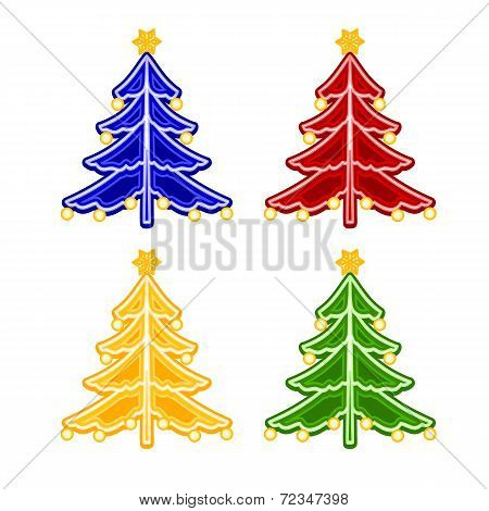 Christmas Trimmings Christmas Tree Faience Vector