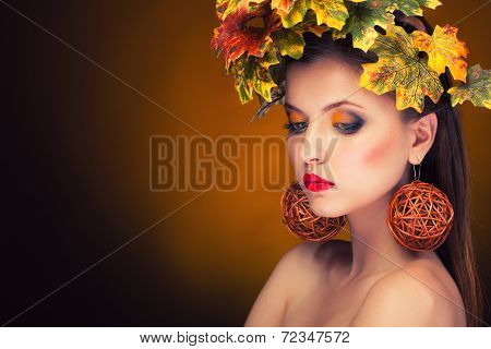 Gorgeous Woman Autumn Fashion Concept