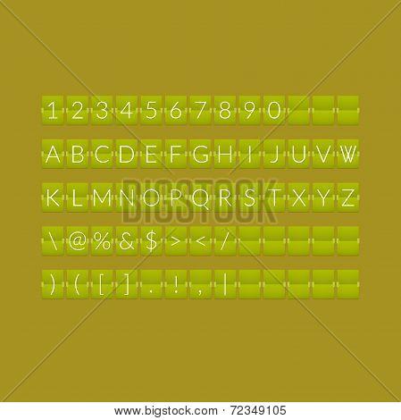 Flat green paper countdown timer