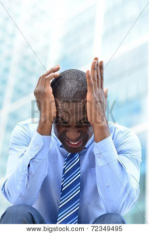 Frustrated Middle Aged Businessman