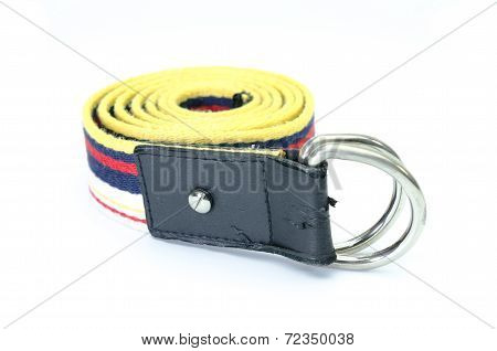 Color Of Strap Belt Isolate On White Background