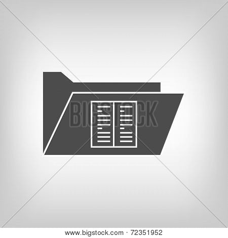 Computer folder with document