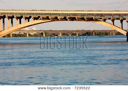 Bridge on Dnepr  in Kiev