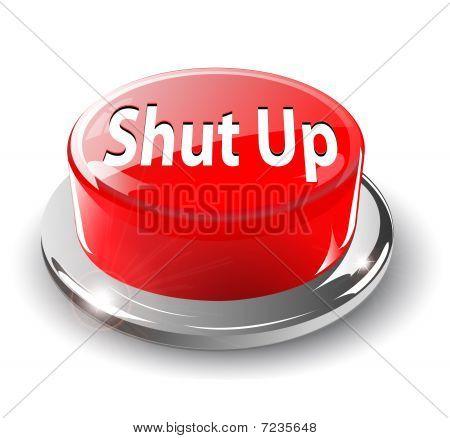 Cale-se o botão, 3d vector vermelho.