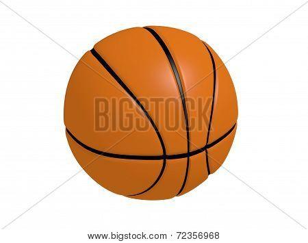 3D Render Illustration Of Basketball