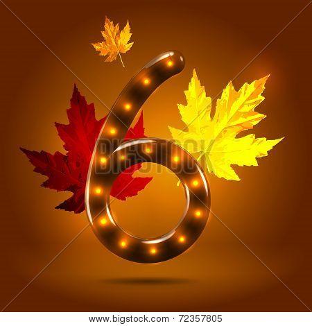 Glossy autumn abc numeral