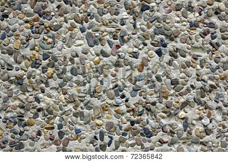 Cobble Wall - Dry Dash