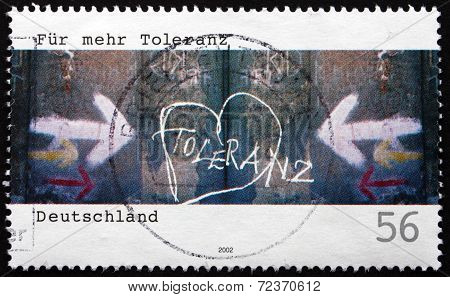 Postage Stamp Germany 2002 More Tolerance