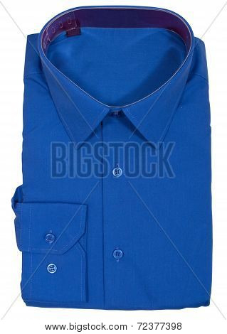 Men's blank folded shirt. Isolated on white