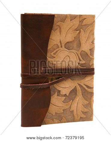 Vintage Leather Diary Florentine Style