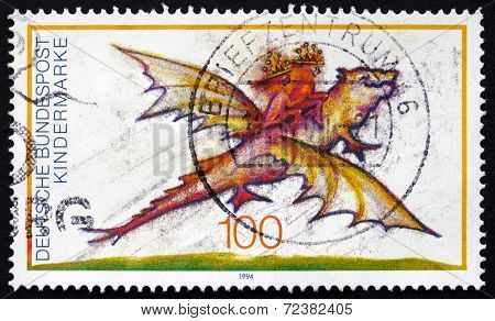 Postage Stamp Germany 1994 Character From Child Book