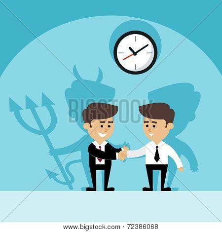 Businessman devil shadow