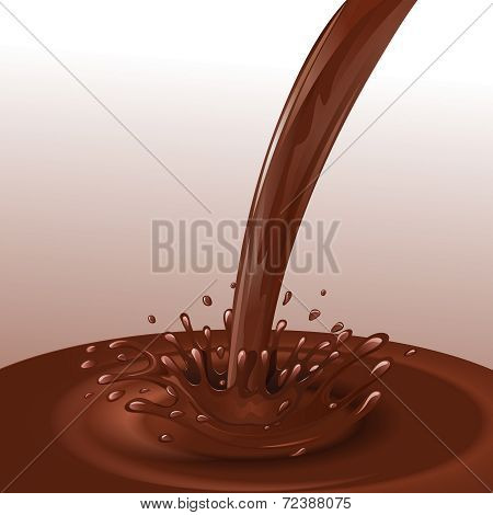 Chocolate flow background
