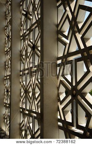 Wall detail at Masjid Negara