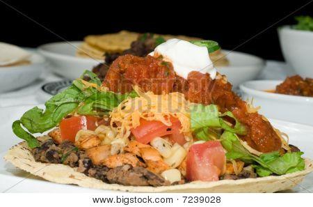 Gourmet Mexican Tostada Or Taco Dinner