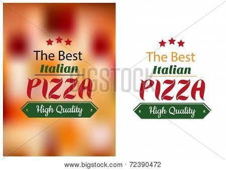 Best Italian pizza poster