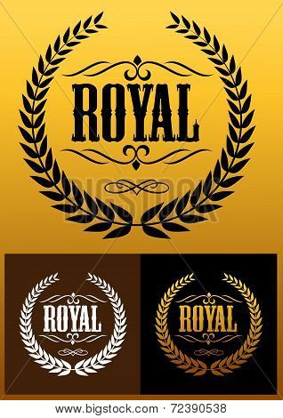 Royal laurel wreath icons