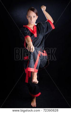 Karate Girl In Kimono