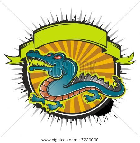 Crocodile And Banner