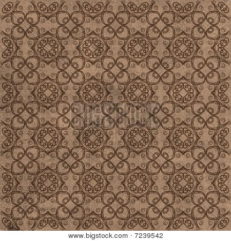 Brown Decorative Swirl Ornamental Background