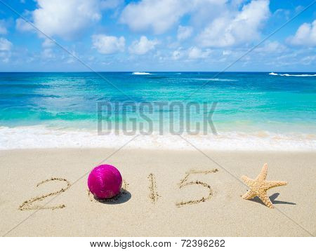 Number 2015 On The Sand - Holiday Concept