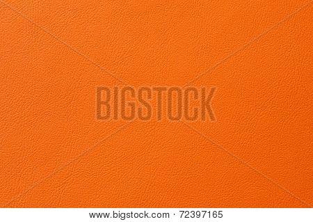 Closeup Of Seamless Orange Leather Texture