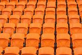 picture of grandstand  - Seat of grandstand in an empty stadium - JPG