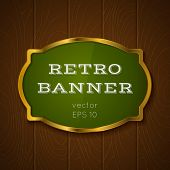 picture of backround  - Illustration of a banner on wooden backround - JPG