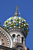 picture of na  - Dome of orthodox church Spas na Krovi in St - JPG