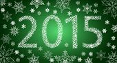 stock photo of happy new year 2013  - Happy New Year 2013 From Stars With White Snowflakes - JPG