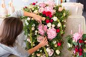 picture of carnations  - Florist at work - JPG