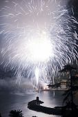 picture of genova  - Pyrotechnic event of late summer in Recco Genova Italy - JPG