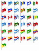 picture of south american flag  - flags North and South Americas countries vector illustration isolated on white background - JPG