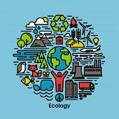 pic of biodiesel  - Green ecology and environment flat line icons set - JPG