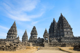 stock photo of brahma  - Candi Prambanan or Candi Rara Jonggrang is a 9th - JPG
